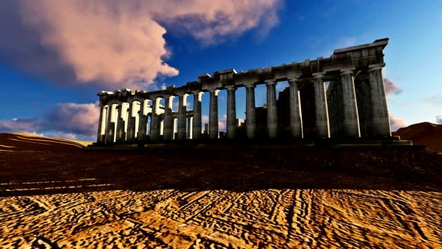 Parthenon Greece 3 D Beautiful Day video