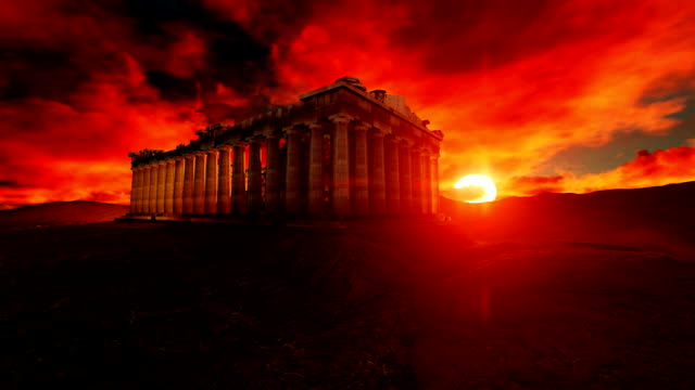 Parthenon Greece On Beautiful Sunset
