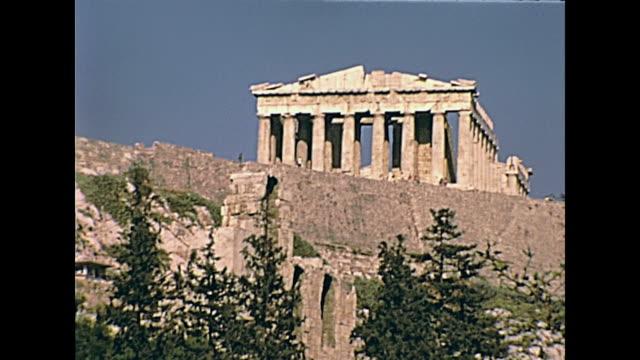 świątynia partenonu ateny - attyka grecja filmów i materiałów b-roll