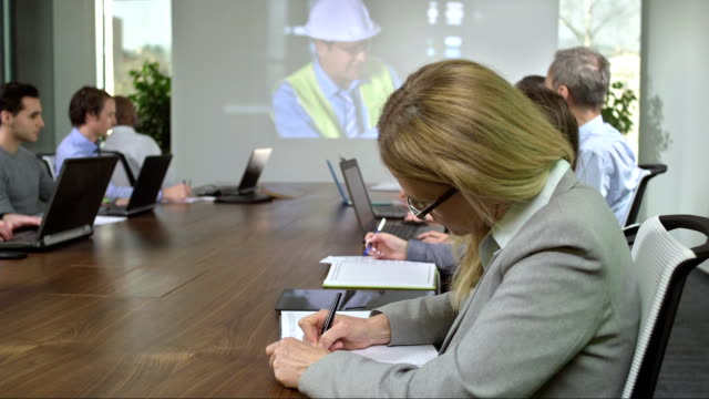 DS MS Participating In A Video Conference video