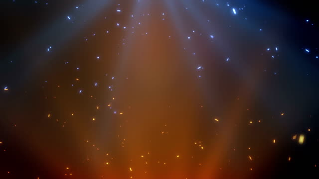 particle and light concept design - ice on fire video stock e b–roll
