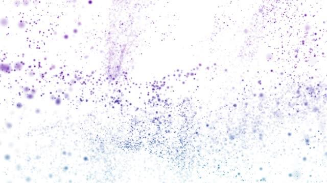4k パーティクルの背景(ループ可能) - キラキラ 白背景点の映像素材/bロール