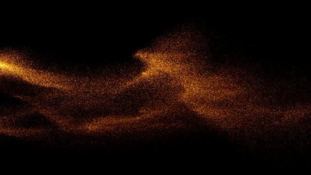 vídeos de stock e filmes b-roll de particle backgrounds - sand
