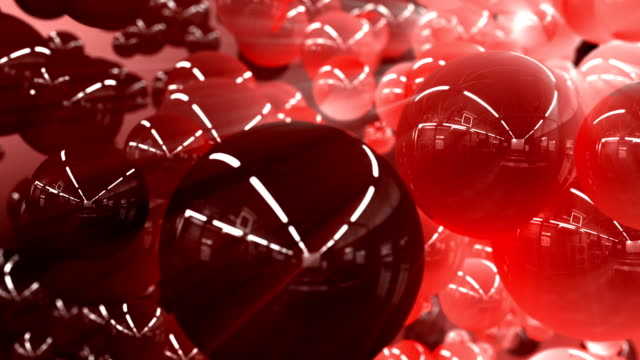 vídeos de stock e filmes b-roll de 3d particle blood balls flowing background - glóbulo vermelho