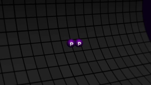 粒子の衝突をアクセレータ・(HD ) ビデオ
