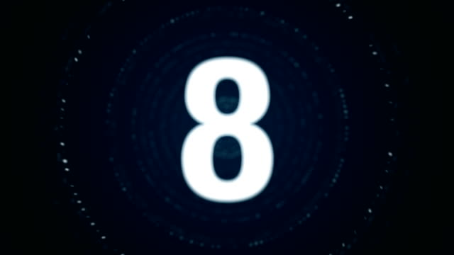 4k particle countdown - stock video - conto alla rovescia video stock e b–roll