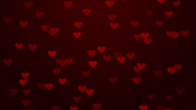 Particle Flying Hearts Valentine's Day Abstract Background 4K stock video