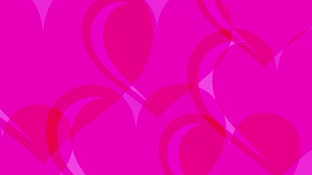 Particle Flying Hearts Valentine's Day Abstract Background 4K