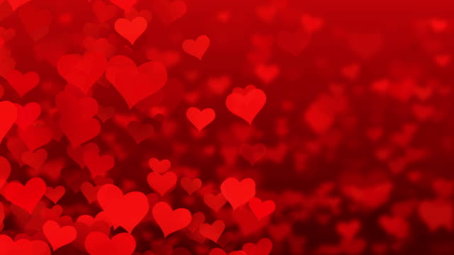 particle flying hearts valentine's day abstract background 4k - valentines day stock videos and b-roll footage