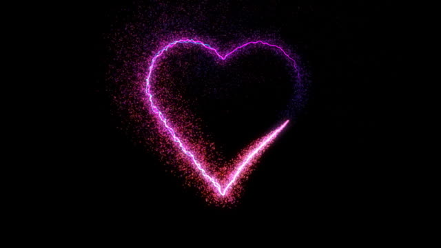 particle heart, hd element with alpha channel - valentines day stock videos and b-roll footage