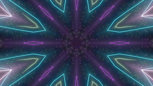 粒子の万華鏡 - 万華鏡模様点の映像素材/bロール