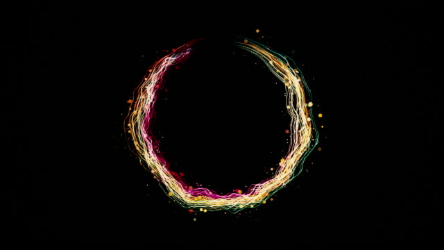 particle ring 4K background video