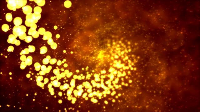 vídeos de stock e filmes b-roll de fundo de partícula-loop espiral - continuidade