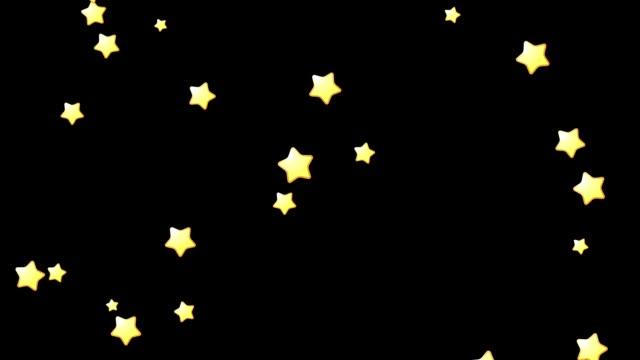 粒子スター 01 - 星型点の映像素材/bロール