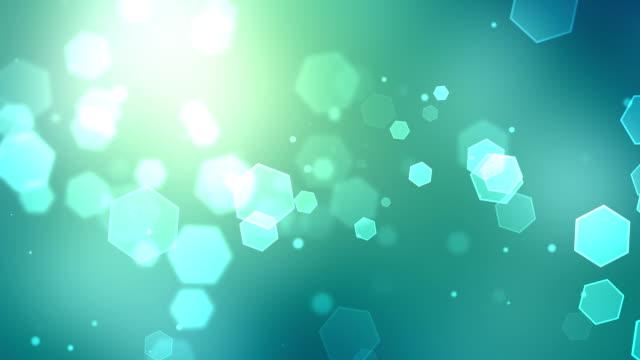 vídeos de stock e filmes b-roll de loopable fundo partículas turquesa - azul turquesa