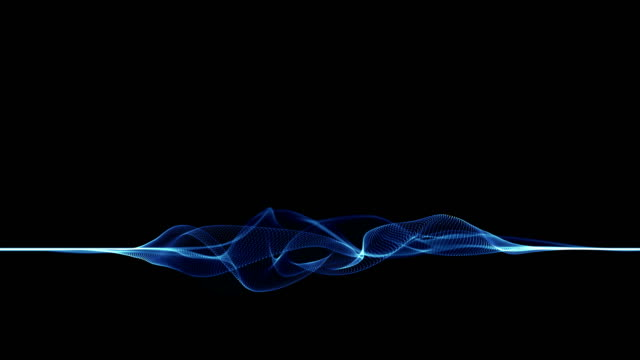 particle waves loop 4k - balance graphics video stock e b–roll