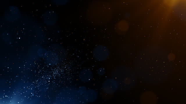 particles blue orange event game trailer titles cinematic concert stage background loop - celebrità video stock e b–roll