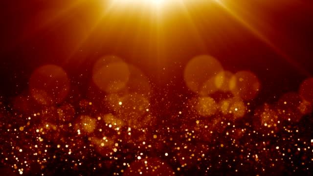 parçacıklar toz soyut ışık bokeh hareket başlıkları sinematik arka plan döngüsü - bling bling stok videoları ve detay görüntü çekimi