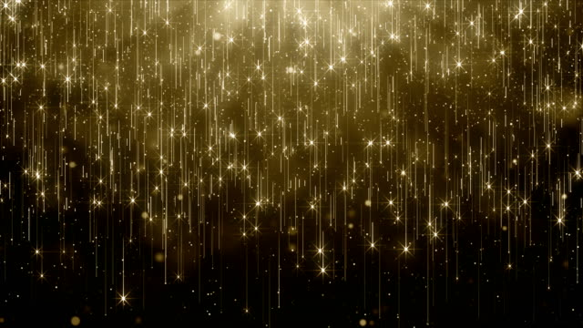 particles gold glitter bokeh award dust abstract background loop - natale concept video stock e b–roll