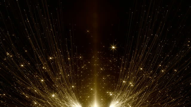 particles gold glitter bokeh award dust abstract background loop - fata video stock e b–roll
