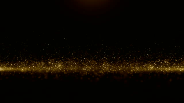 vídeos de stock e filmes b-roll de particles gold glitter bokeh award dust abstract background loop - glamour