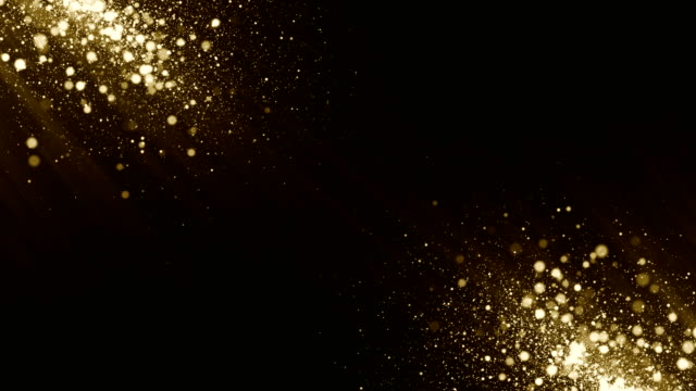 Particles gold glitter bokeh award dust abstract background loop Particles dust abstract light motion background. Animation of shimmering particles. Perfect as a background for topics like cinematic or luxury and titles. Created in AfterEffects with Trap code Particular. light effect stock videos & royalty-free footage