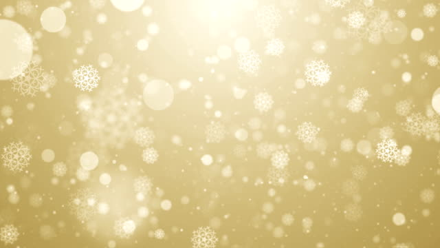 particles gold snow snowflake winter glitter bokeh abstract background loop - snowflake background stock videos & royalty-free footage