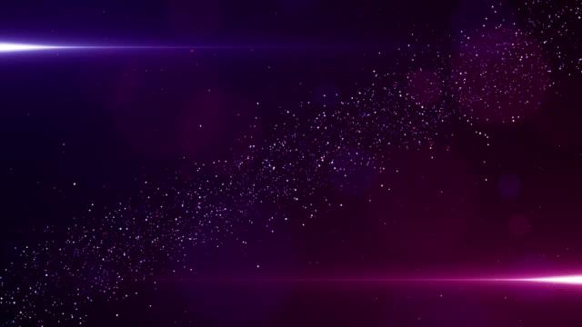 stockvideo's en b-roll-footage met deeltjes roze violet evenement game trailer titels filmische concert podium achtergrond loop - prijs onderscheiding