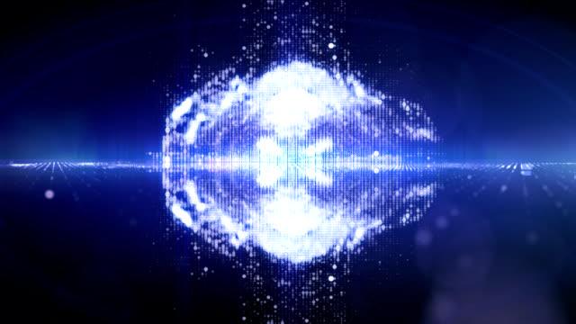 Particles splash video