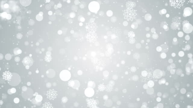 particles white snow snowflake winter glitter bokeh abstract background loop - snowflake background stock videos & royalty-free footage