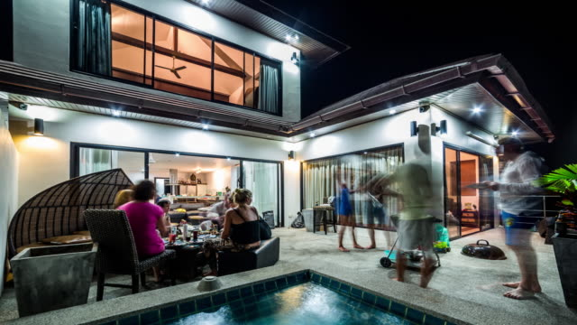 BBQ party at the private villa video