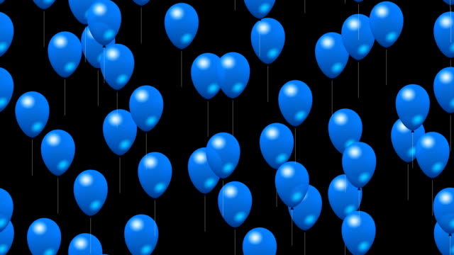 Party blue balloons with alpha video
