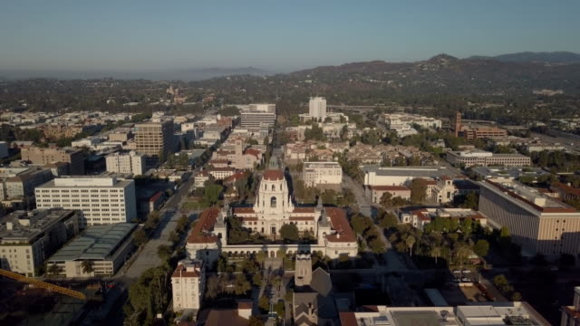 Pasadena City Hall - Moving Drone Shot Revealing the entire City