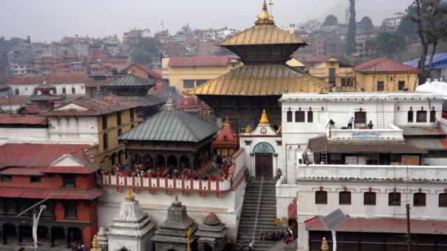 ネパール、カトマンズのパシュパティナート寺院 - ネパール点の映像素材/bロール