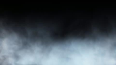 vidéos et rushes de passage à travers la brume/vapeur/fumée isolée sur fond noir - brouillard