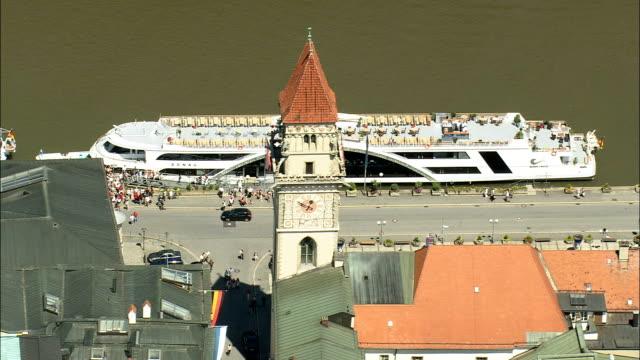 Passau  - Aerial View - Bavaria,  Lower Bavaria,  Kreisfreie Stadt Passau helicopter filming,  aerial video,  cineflex,  establishing shot,  Germany video