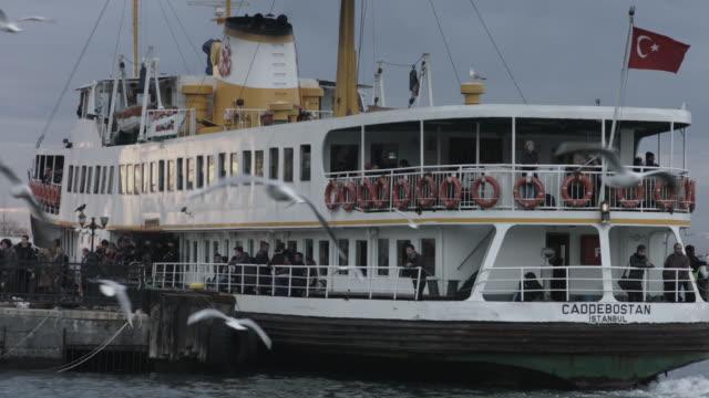 passenger boat on istanbul bosphorus sea, Turkey. June 12, 2015 video