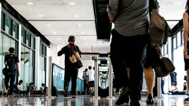 Passenger In Airport with in time lapse. - video