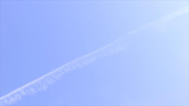 Passenger jet landing at sunrise, 2 shots video