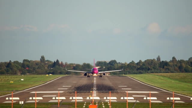 Passenger plane take-off from Hannover airport video