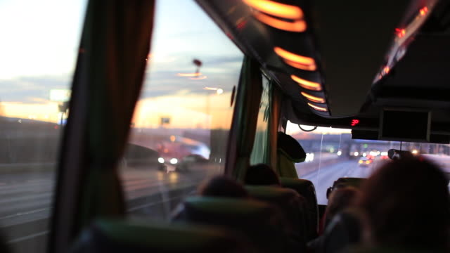 Passenger point of view traveling on road by bus Passenger point of view traveling on road by bus bus stock videos & royalty-free footage