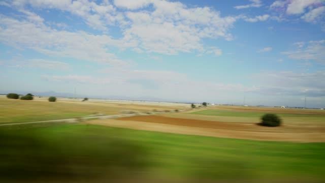 passenger POV time lapse from inside high speed bullet train video