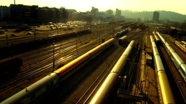 Passenger Train Leaving A Station video