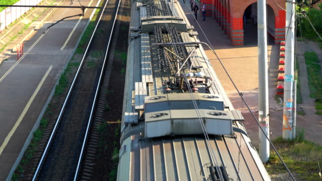 passenger train on the railway