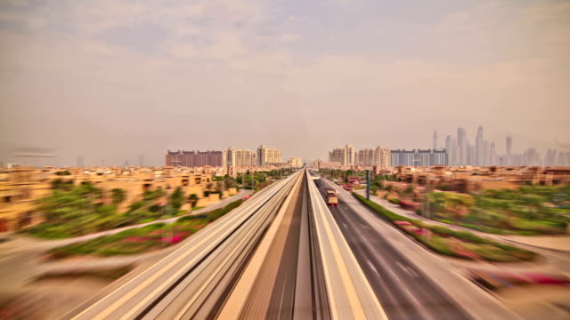 Passenger Train Time Lapse Dubai video