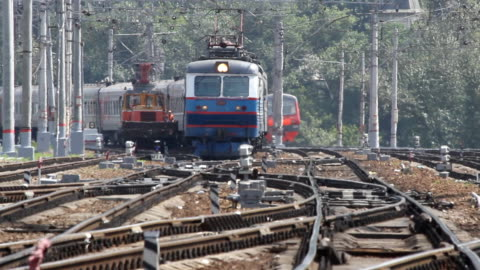 Russia.Moscow - 2013: Passenger train video