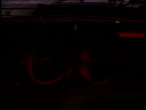 passing a steam enginge during twilight video