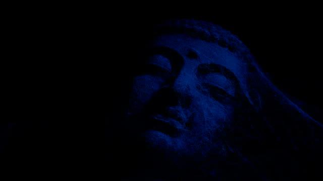 Passing Ancient Buddha Statue At Night