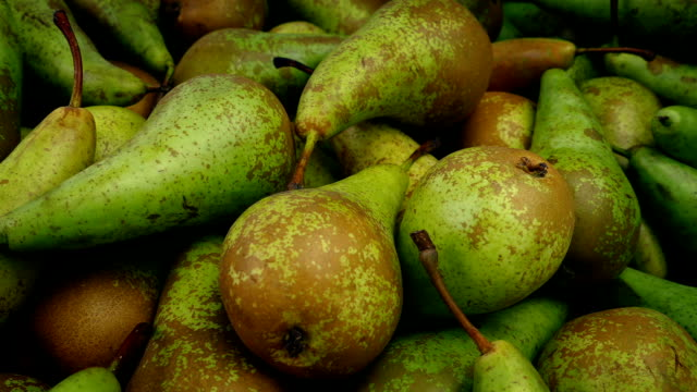 Passing Lots Of Delicious Pears Tracking shot moving slowly past lots of ripe pears pear stock videos & royalty-free footage