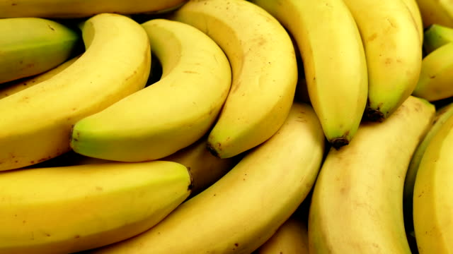Passing Ripe Yellow Bananas video